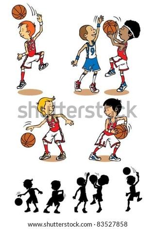 Boy basketball character - stock vector