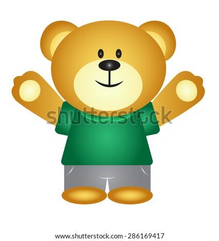 Boy Cartoon Bear - stock vector