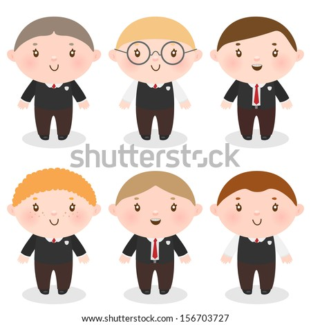 Boys in school uniforms, back to school - stock vector