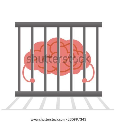 Brain cage - stock vector