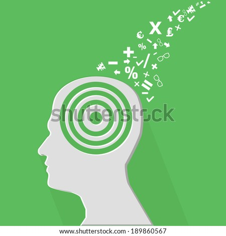 Brain education concept,vector - stock vector
