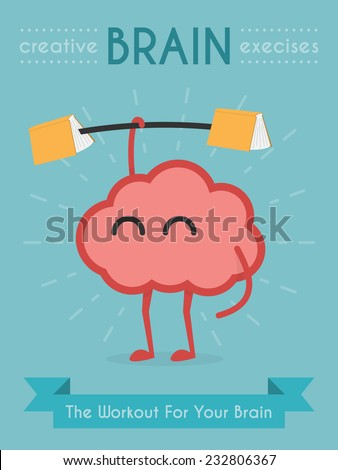 Brain Exercise - stock vector