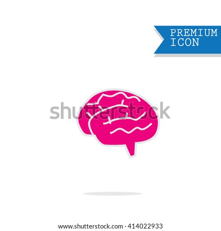 Brain icon - stock vector