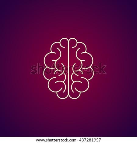 Brain icon. Flat style illustration. EPS 10 - stock vector