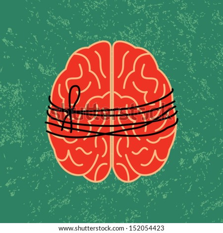 brain lock, mental idea - stock vector