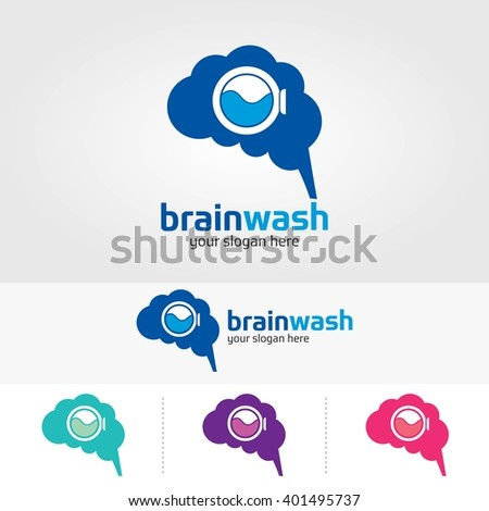 brain logo design template.Brain Wash - stock vector