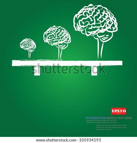 Brain sign ,Vector - stock vector