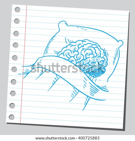 Brain sleep - stock vector