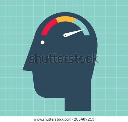 Brain Speed - stock vector