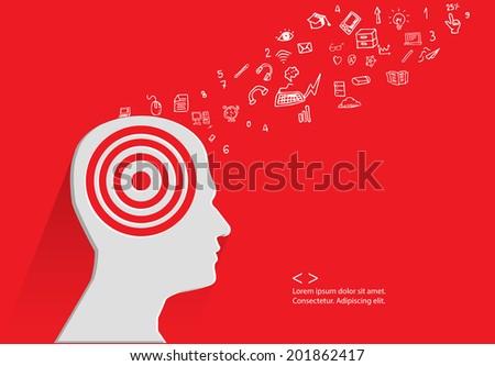 Brain storm concept,vector - stock vector