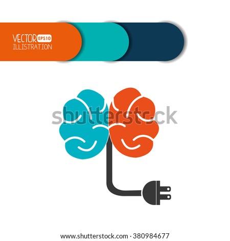 brain storm design  - stock vector