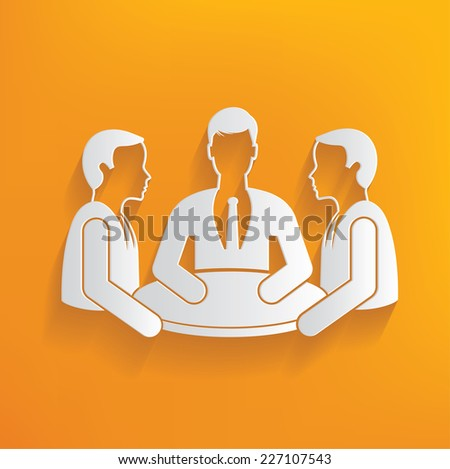 Brain storm human resource on yellow background,clean vector - stock vector