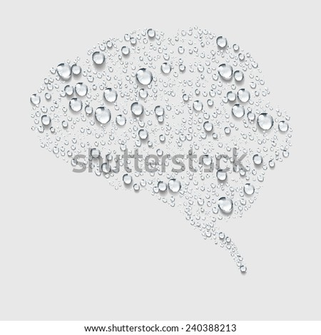 brain, Transparent water vector - stock vector