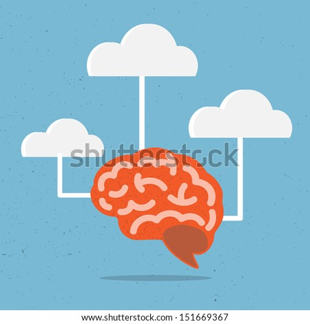 Brain Vector - stock vector