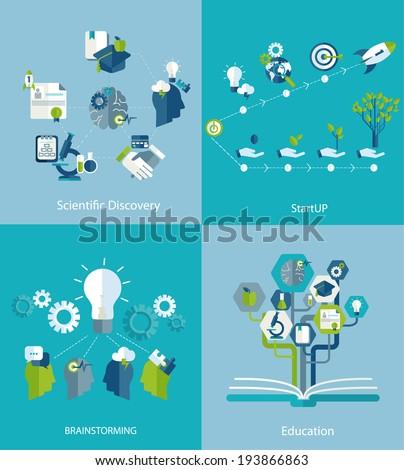 Brainstorm. Teamwork concept.  - stock vector