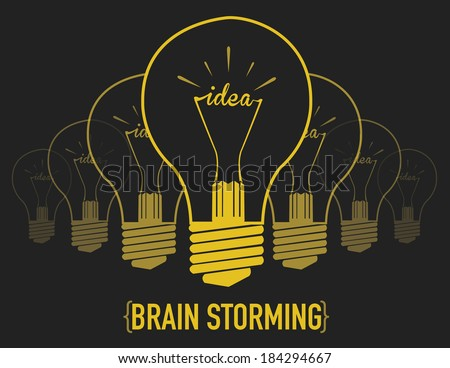 brainstorming, creative light bulb idea abstract infographic. vector illustration - stock vector