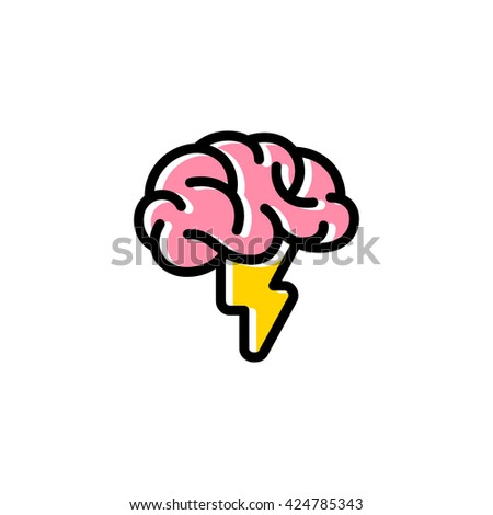 Brainstorming, idea and creativity logo - stock vector