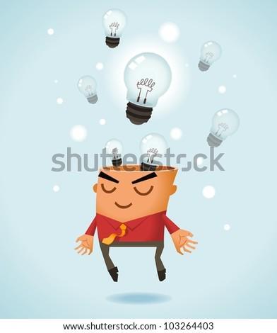 Brainstorming. Vector Illustration - stock vector