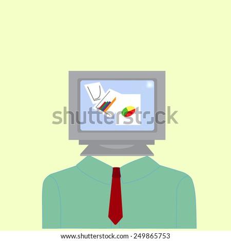 Brainstorming. Vector illustration. - stock vector