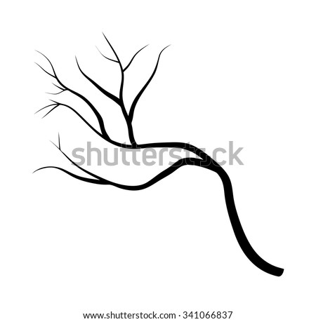 branch silhouette icon, symbol, design. vector illustration isolated on white background. - stock vector