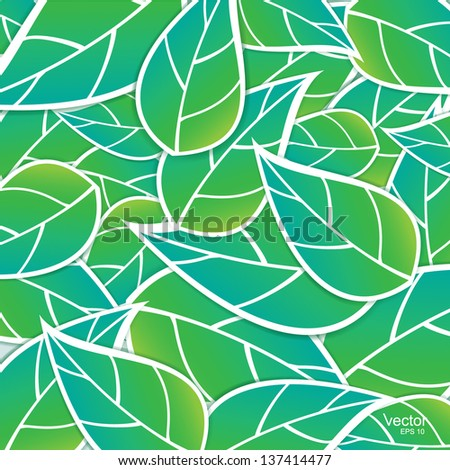 branch with fresh green leaves vector - stock vector