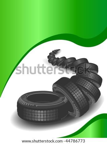Brand new tires - stock vector