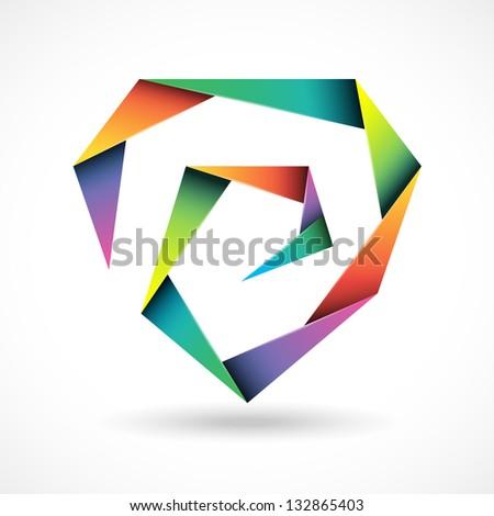 Brand polygonal design concept - stock vector