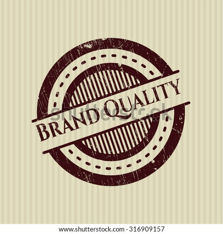 Brand Quality rubber seal - stock vector
