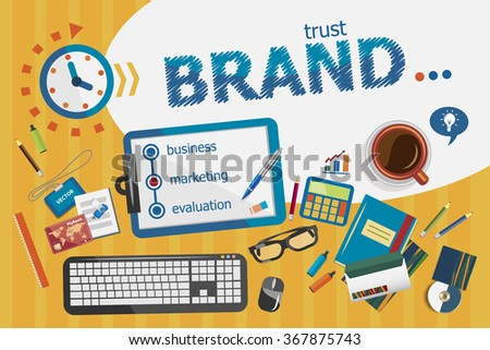 Branding design concept. Typographic poster. Branding concepts for web banner and printed materials. - stock vector