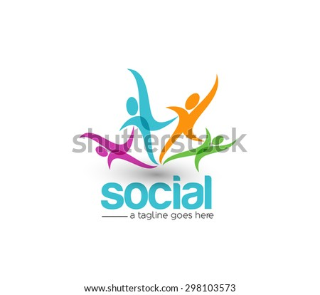 Branding Identity Corporate Social vector logo design  - stock vector