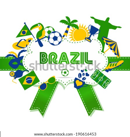Brazil background. - stock vector