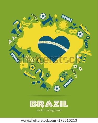 Brazil background - stock vector