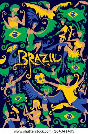 Brazil Carnival - stock vector