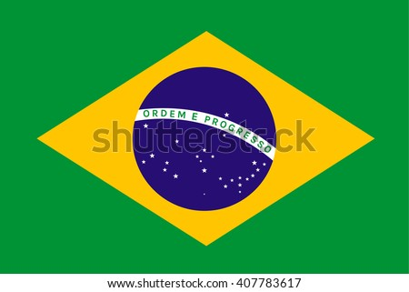 Brazil Flag or Brazilian Flag. Vector illustration flag , Symbolic that represent to Brazil or Brazilian for several concept and occasional ( National Day,Sport,Currency,Travel,Olympic,etc. ) - stock vector