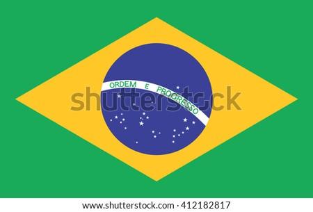 Brazil flag. Vector design. - stock vector