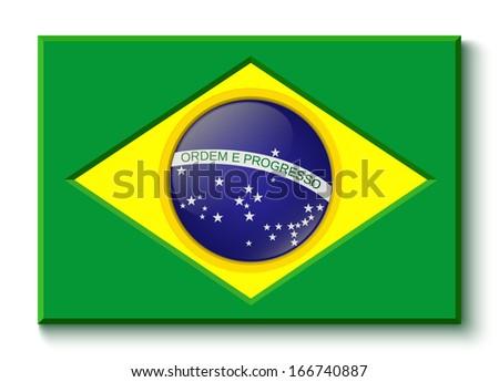 Brazil flag. Vector illustration - stock vector