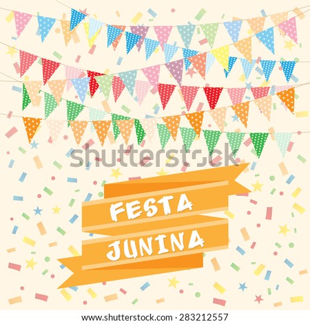 Brazil june party - stock vector