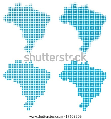 Brazil map mosaic set. Isolated on white background. - stock vector
