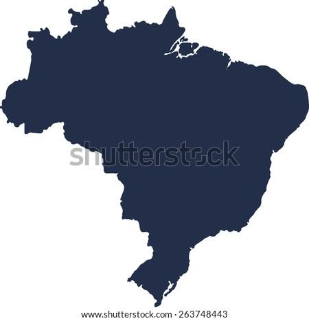 Brazil Vector map. High detailed.  - stock vector