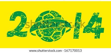 brazilian football retro style vector art - stock vector