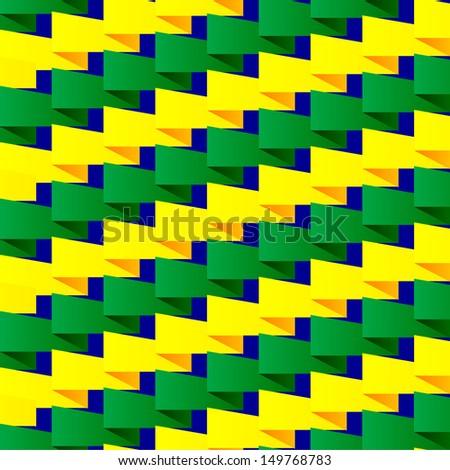 Brazilian Wave Pattern  - stock vector