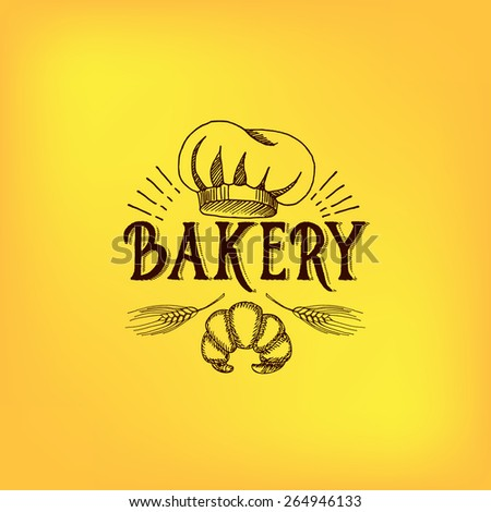 Bread and bakery design. Sketch, doodle vector. - stock vector
