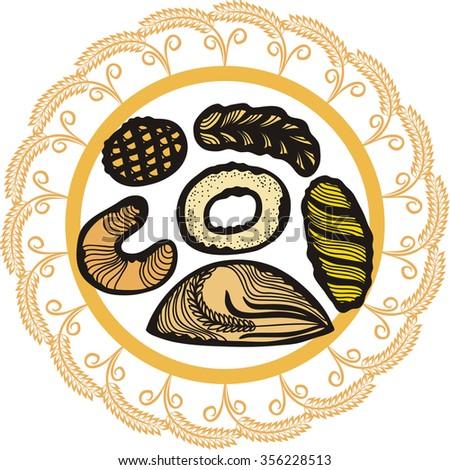 Bread bakery vector illustration - stock vector