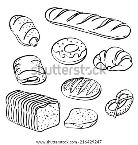 Bread Collection - stock vector