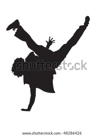 Break Dance - stock vector