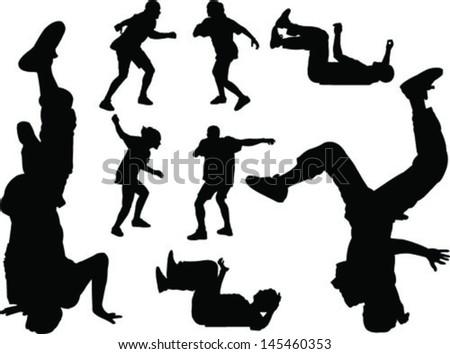 breakdance - vector - stock vector