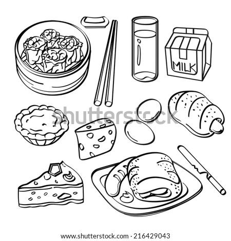 Breakfast Collection - stock vector