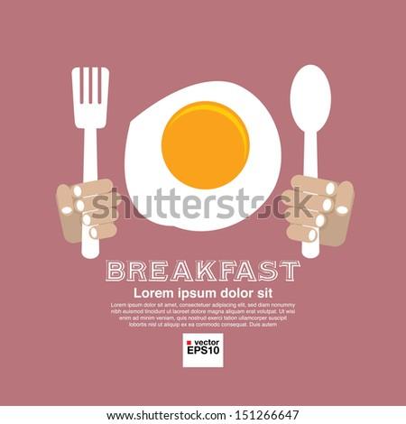 Breakfast Vector Illustration Concept .EPS10 - stock vector