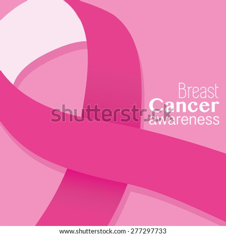 Breast Cancer awareness pink ribbon card template. EPS10 vector format - stock vector