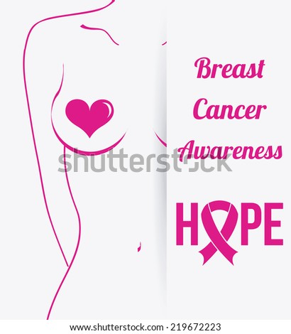 breast cancer graphic design , vector illustration - stock vector
